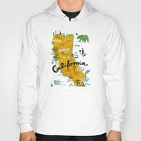 postcard Hoodies featuring Postcard from California by Christiane Engel