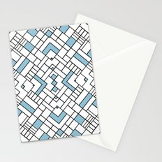 PS Grid 45 Sky Blue Stationery Cards