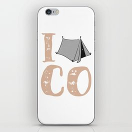 Native Colorado Gifts CO Tent Pride Mountains I Camp iPhone Skin