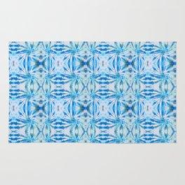 Summer Vibes Tie Dye in Lagoon Blue Rug