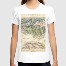 Vintage Map of the Coal Fields of South Wales - Forest Of Dean - Bristol and Somersetshire T-shirt