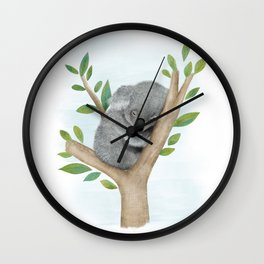 Sleeping Koala Bear Wall Clock