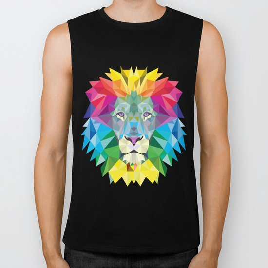 High Color Lion  Biker Tank