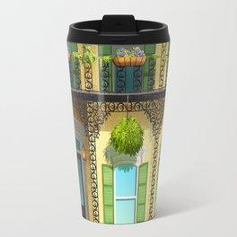 Yellow French Quarter House Travel Mug