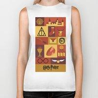 potter Biker Tanks featuring Potter by Polvo