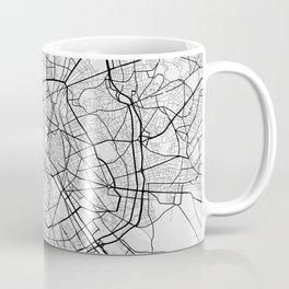 Paris City Map of France - Light Coffee Mug