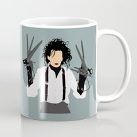 edward scissorhands Mugs featuring edward scissorhands by Live It Up