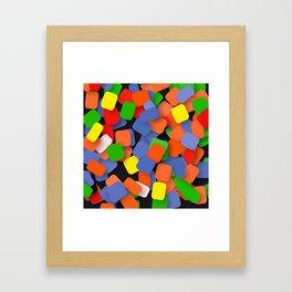 wild color pieces Framed Art Print