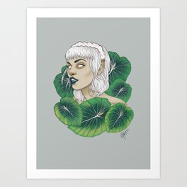 The Leaf Elf Art Print
