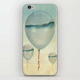 Wet Weather Balloons iPhone Skin