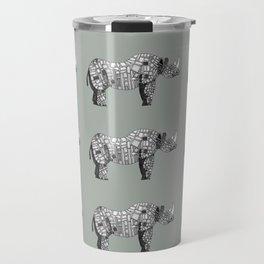 Concrete Rhinoceros Travel Mug