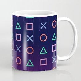 Cyberpunk Vaporwave Playstation Icons Coffee Mug