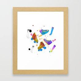 Skates & Sneakers Framed Art Print