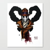 rorschach Canvas Prints featuring Rorschach by The Aortic Inkwell