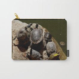 Crowded beach Turtles sunbathing Carry-All Pouch