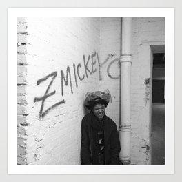 zmickeyc graffiti photo Art Print