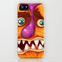 Orange Monster iPhone Case