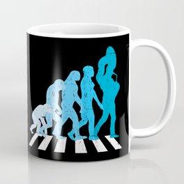 Funny Band T-Shirt Marching Band Tuba Player Evolution Gift Coffee Mug