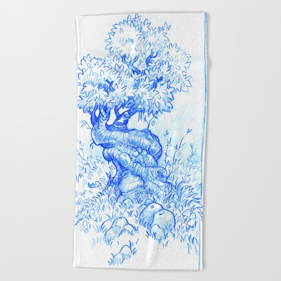 Tree of Love Beach Towel