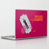 kafka Laptop & iPad Skins featuring Indagine su un Cittadino al di sopra di ogni Sospetto - Locandina per il Capolavoro di Elio Petri  by Stefanoreves