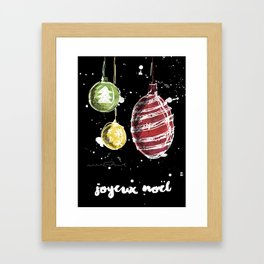 Joyeux Noël - Christmas Framed Art Print