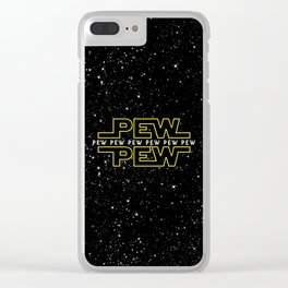 Pew Pew v2 Clear iPhone Case