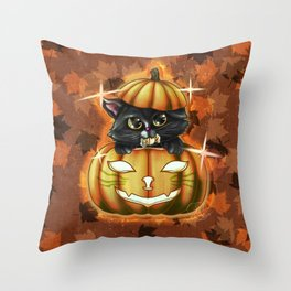 Spooky Cutey - v2 Candy Throw Pillow
