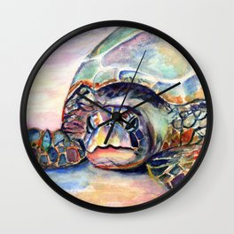 Turtle at Poipu Beach Wall Clock