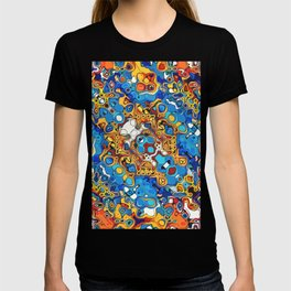 Orange And Blue Abstract T-shirt