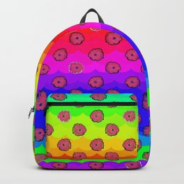 Rainbow and pink flowers Backpack