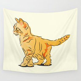 Tabby Kitten Wall Tapestry