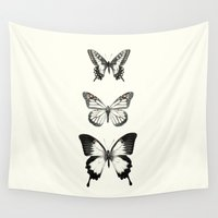 butterflies Wall Tapestries featuring Butterflies // Align by Amy Hamilton