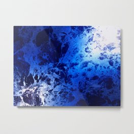 Blue Marble Dream Abstract Metal Print