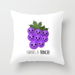 Thanks A Bunch | Grapes Throw Pillow