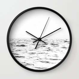 WHITE - SEA - WAVES - WATER - WHALE - NATURE - ANIMAL - PHOTOGRAPHY Wall Clock