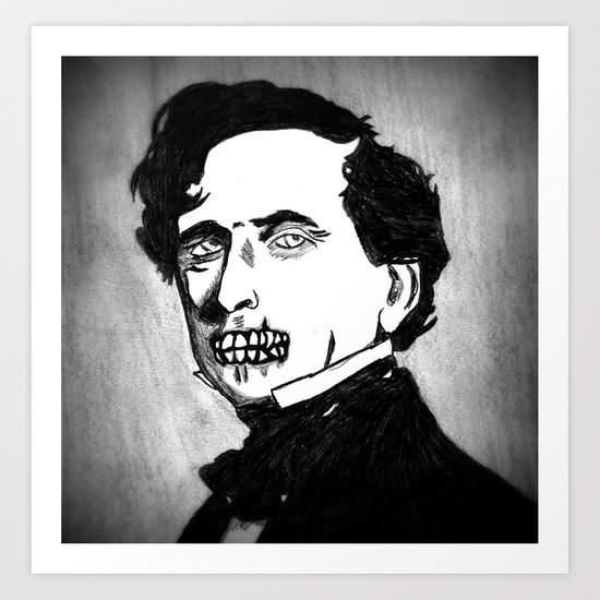 14. Zombie Franklin Pierce  Art Print