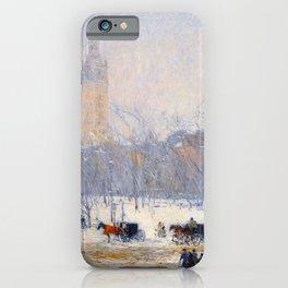 Childe Hassam - Snowstorm Madison Square iPhone Case