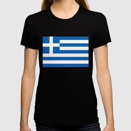 Flag of Greece, High Quality image T-shirt