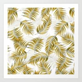 Design 166 brown leaves Art Print