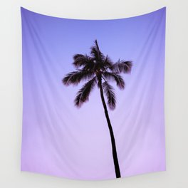 palm tree ver.violet Wall Tapestry