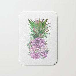 Floral Pineapple 1 Bath Mat