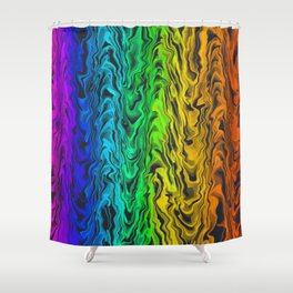 Waves of ROYGBIV Shower Curtain