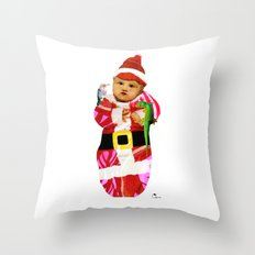 Red & Green Tidings Throw Pillow