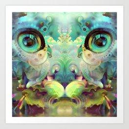 Catnip Sky Dream (Electric Catnip) Art Print