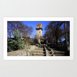 Ancient watchtower. Art Print