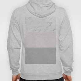 Pastel striping - soft grey marble Hoody