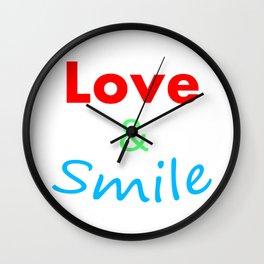Love & Smile Wall Clock
