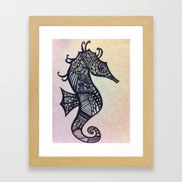 zen seahorse Framed Art Print