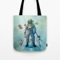 garden Tote Bags featuring Deep Sea Garden  by Terry Fan