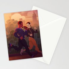 Running buddies Stationery Cards